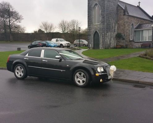 Baby Bentley Wedding Car Outside Church
