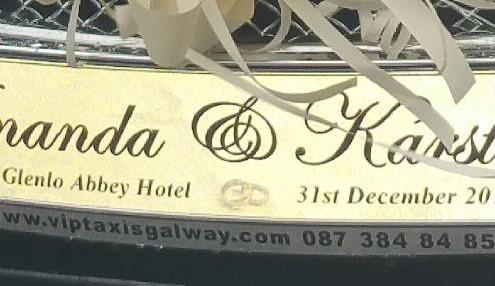 Customised Wedding Car Plates