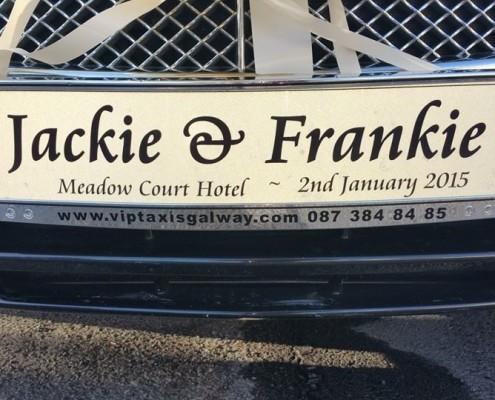 Customised Wedding Car Licence Plates