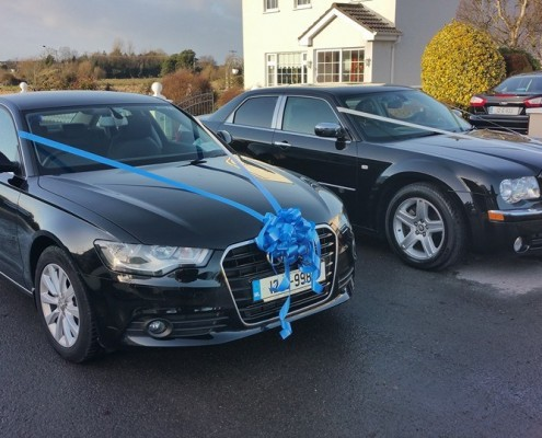 Decorated Wedding Cars for the Bride and Groom